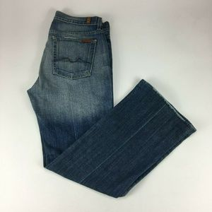 7 For All Mankind Bootcut Light Wash Womens Jeans